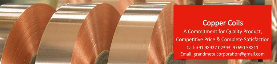 Copper Coils, Galvanized Steel Coils, Mild Steel Coils